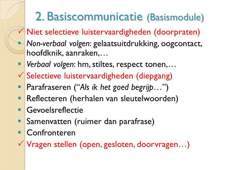 2. Basiscommunicatie (Basismodule)
