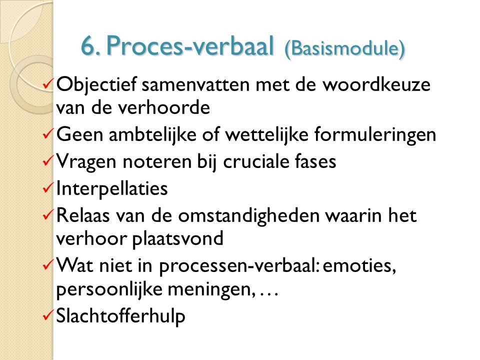 6. Proces-verbaal (Basismodule)