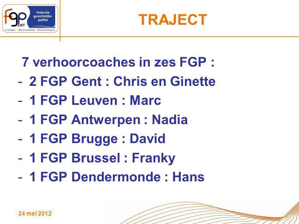 TRAJECT 7 verhoorcoaches in zes FGP : 2 FGP Gent : Chris en Ginette