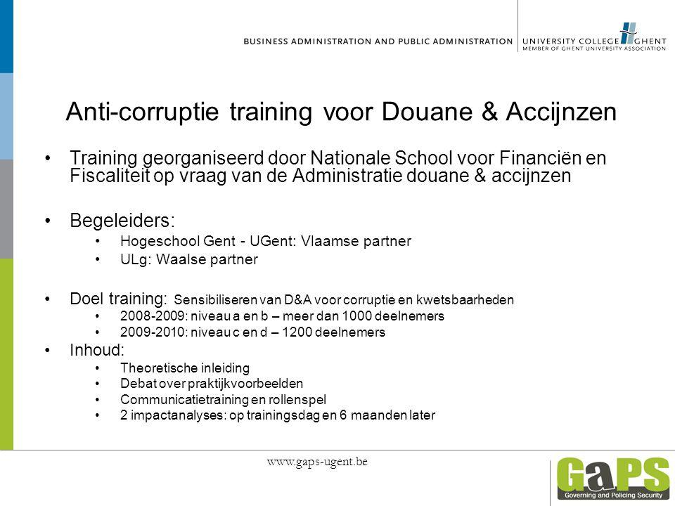 Anti-corruptie training voor Douane & Accijnzen