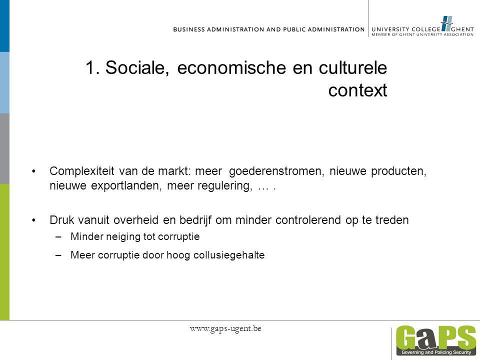 1. Sociale, economische en culturele context