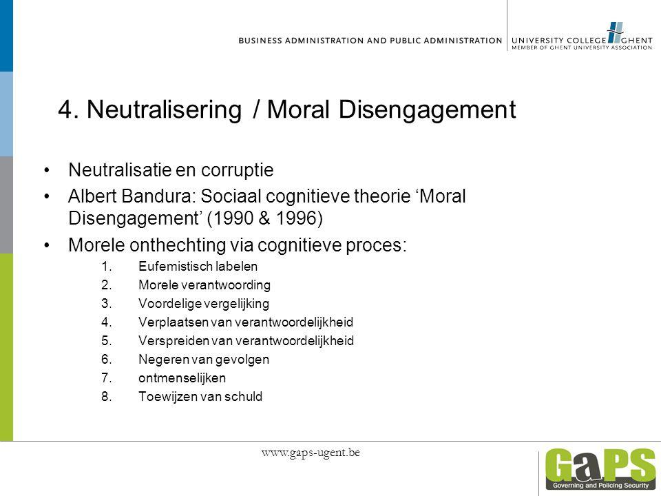 4. Neutralisering / Moral Disengagement