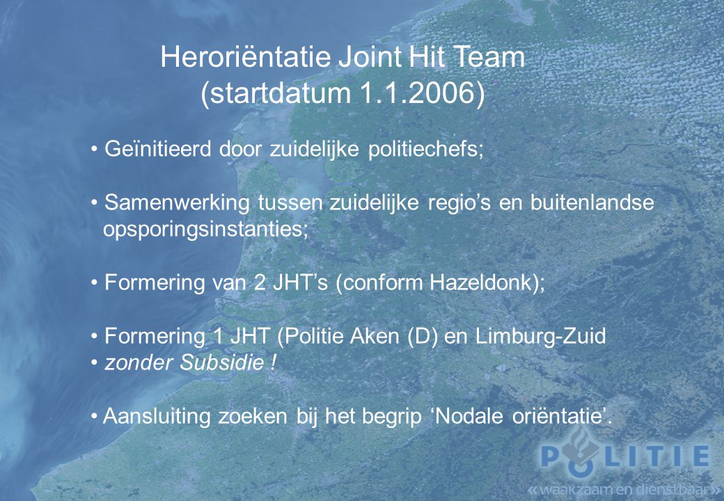 Heroriëntatie Joint Hit Team