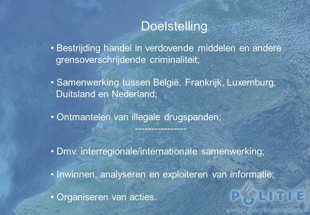 Doelstelling Bestrijding handel in verdovende middelen en andere