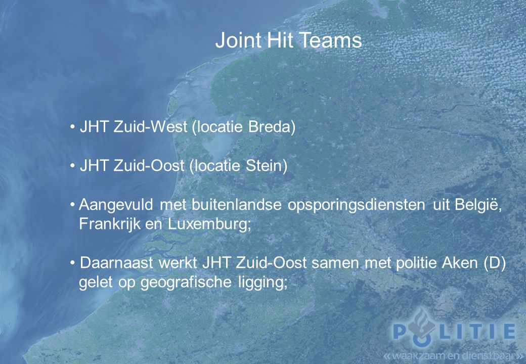 Joint Hit Teams JHT Zuid-West (locatie Breda)