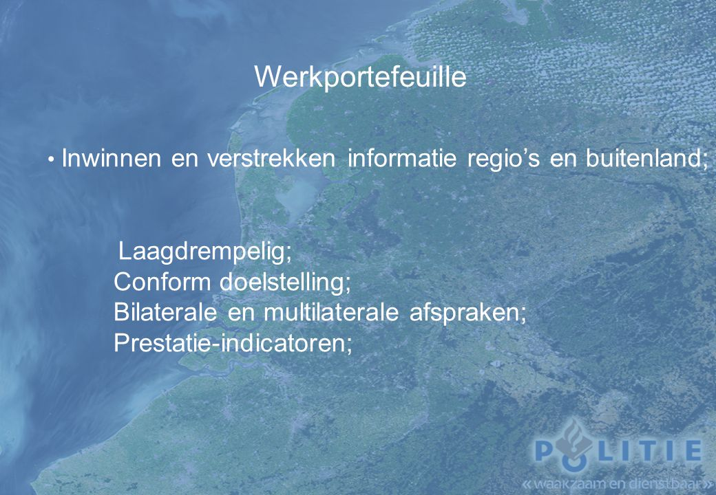 Werkportefeuille Laagdrempelig; Conform doelstelling;