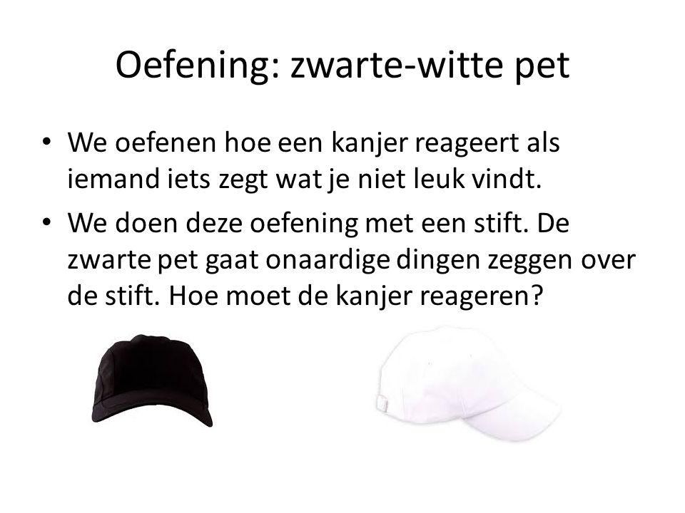 Oefening: zwarte-witte pet