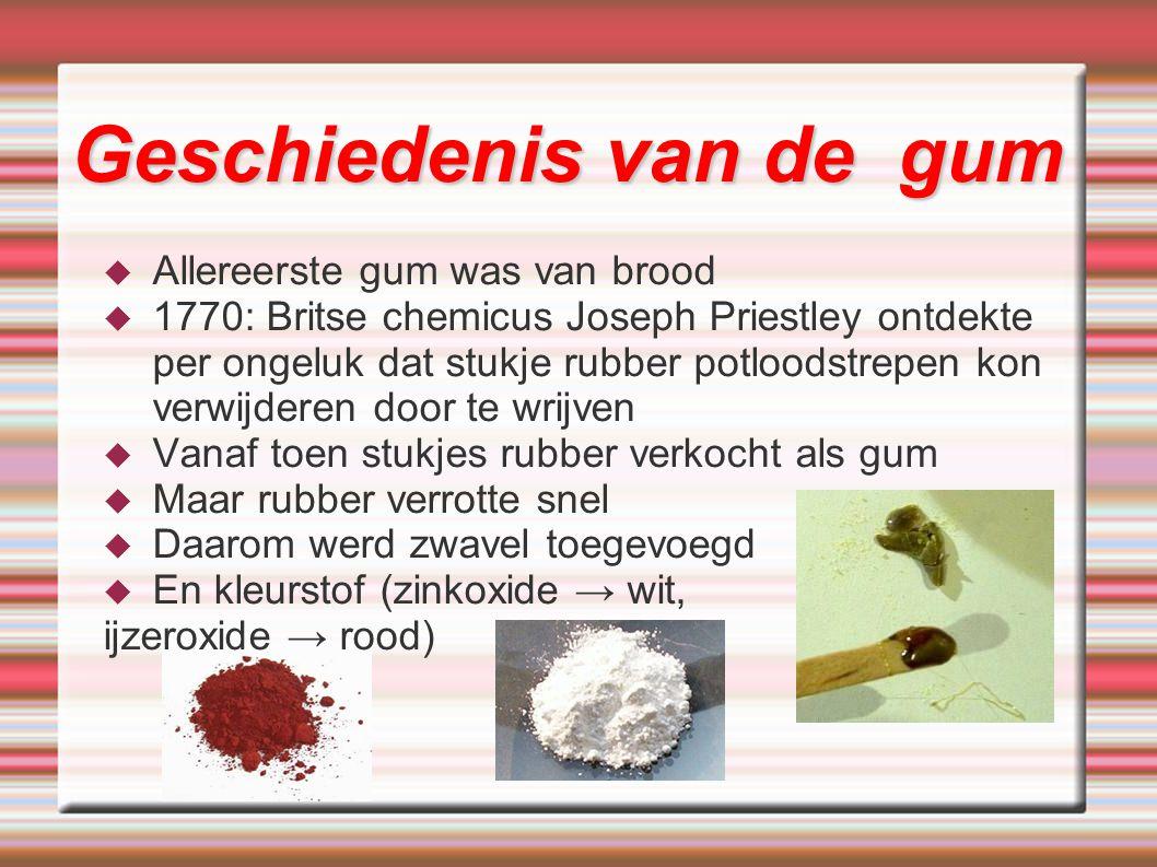Geschiedenis van de gum