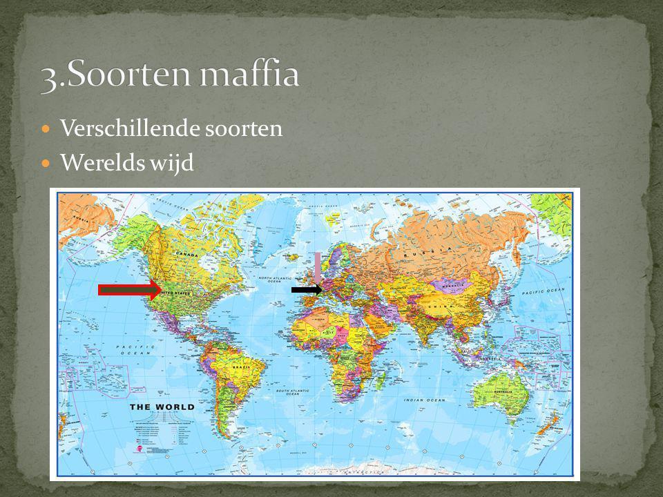 3.Soorten maffia Verschillende soorten Werelds wijd