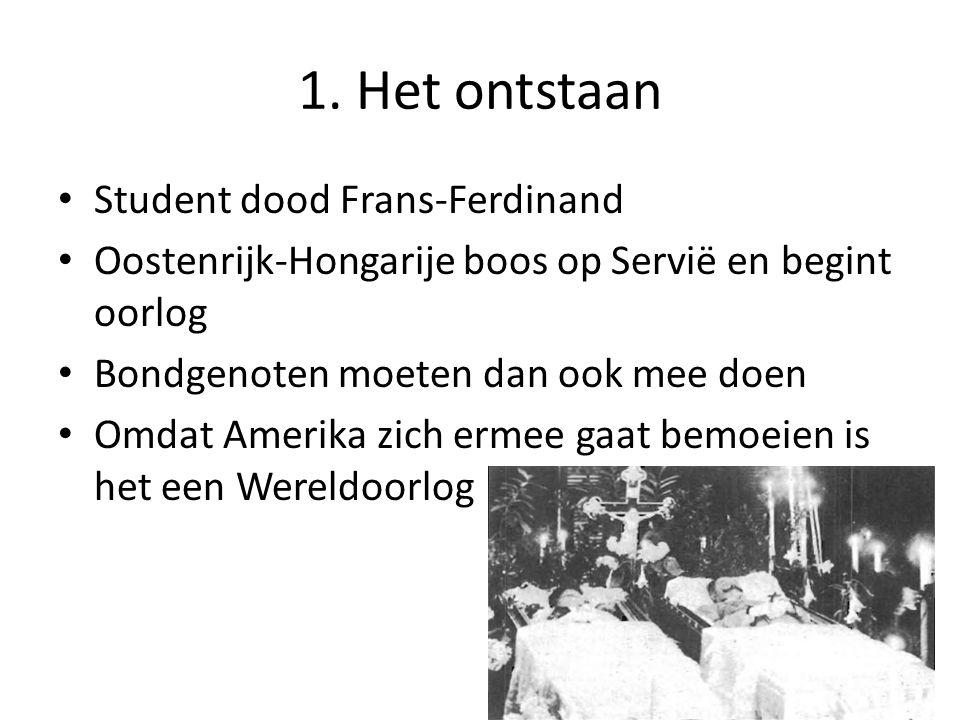 1. Het ontstaan Student dood Frans-Ferdinand