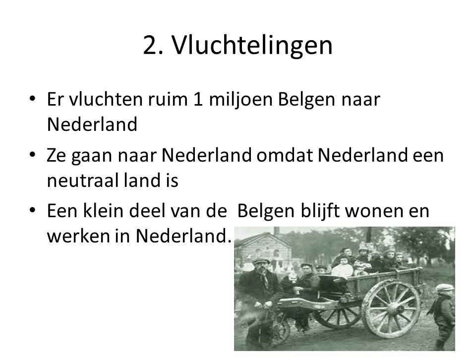 2. Vluchtelingen Er vluchten ruim 1 miljoen Belgen naar Nederland