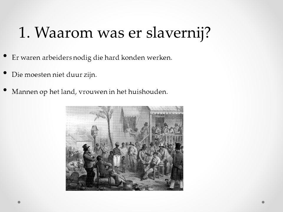 1. Waarom was er slavernij