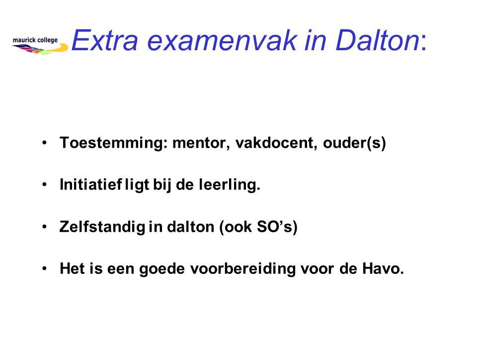 Extra examenvak in Dalton: