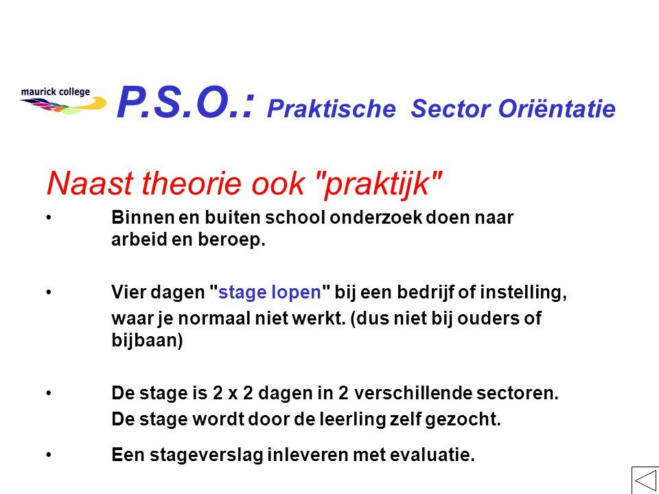 P.S.O.: Praktische Sector Oriëntatie