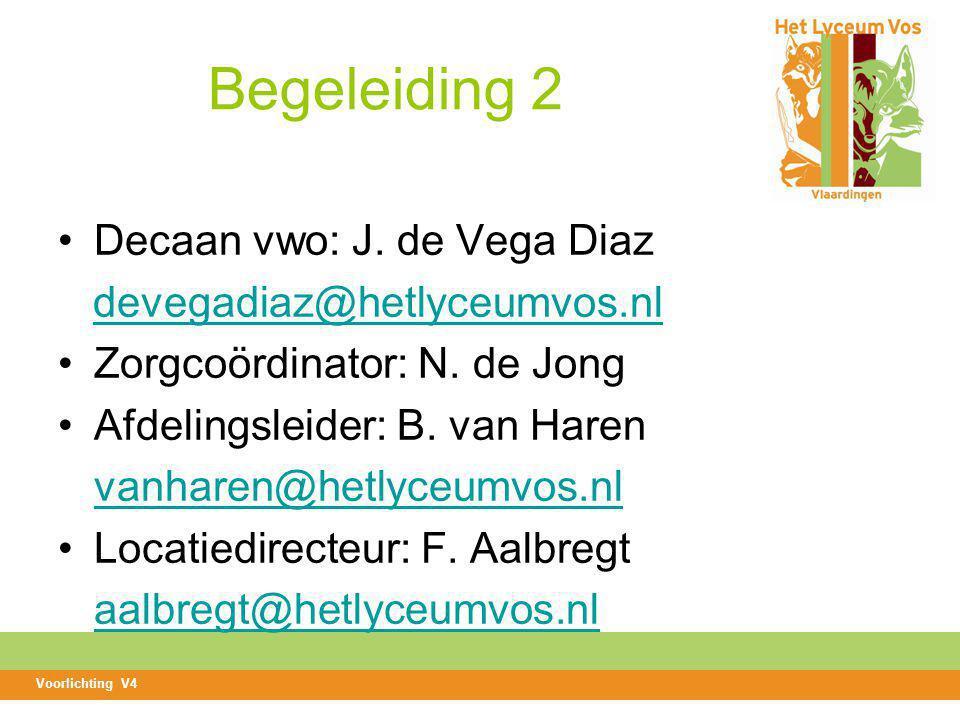 Begeleiding 2 Decaan vwo: J. de Vega Diaz devegadiaz@hetlyceumvos.nl