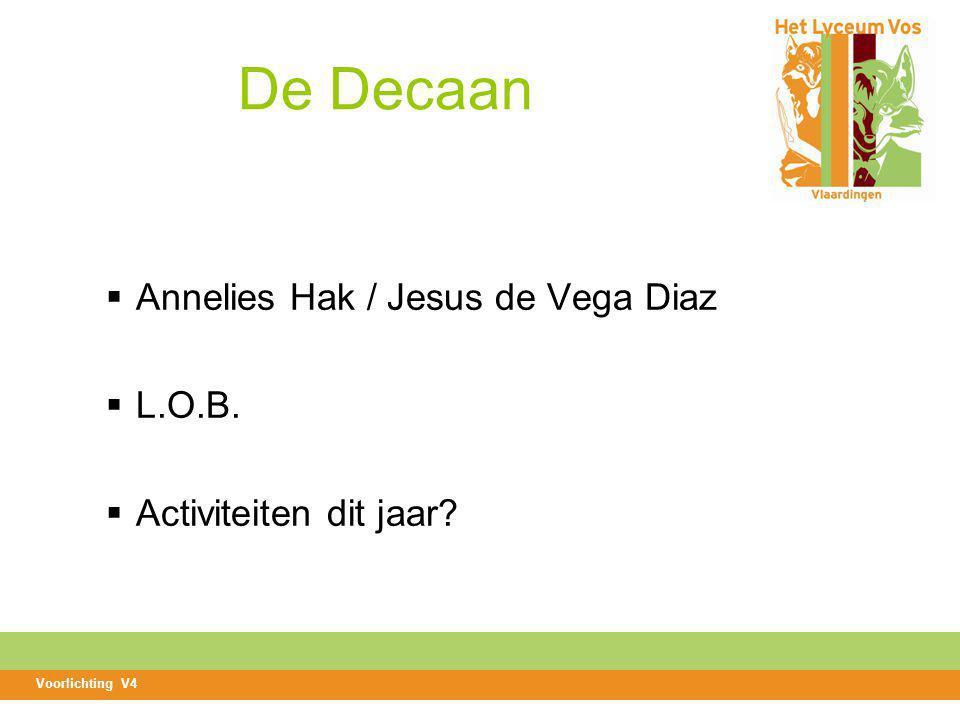 De Decaan Annelies Hak / Jesus de Vega Diaz L.O.B.