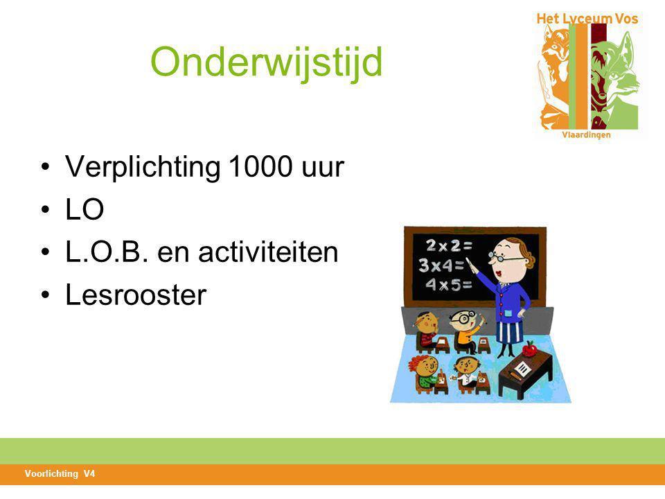 Onderwijstijd Verplichting 1000 uur LO L.O.B. en activiteiten