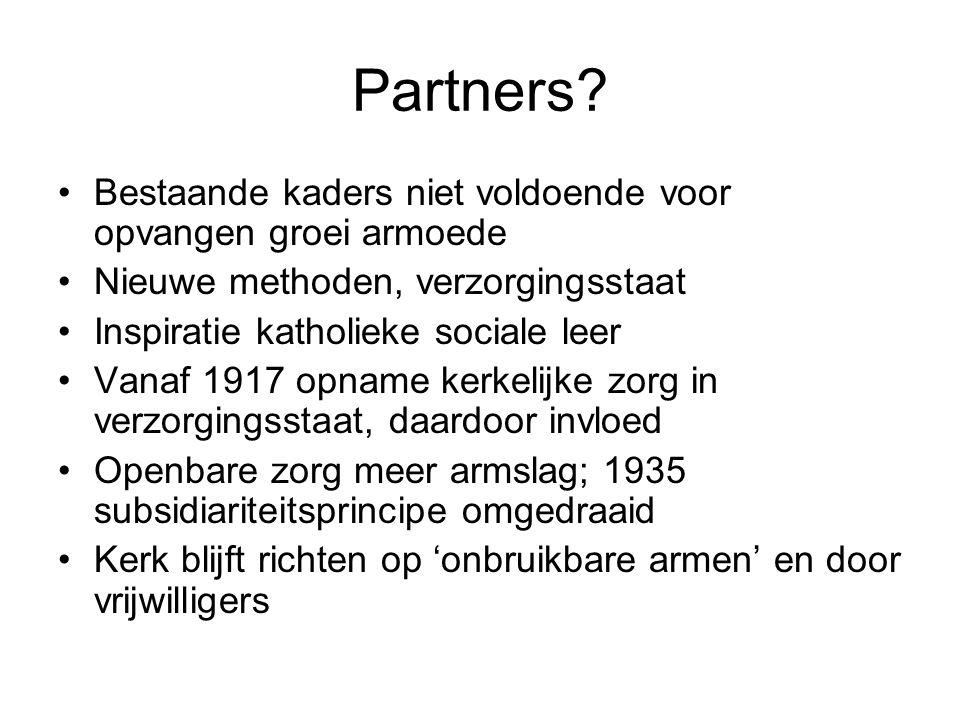 Partners Bestaande kaders niet voldoende voor opvangen groei armoede