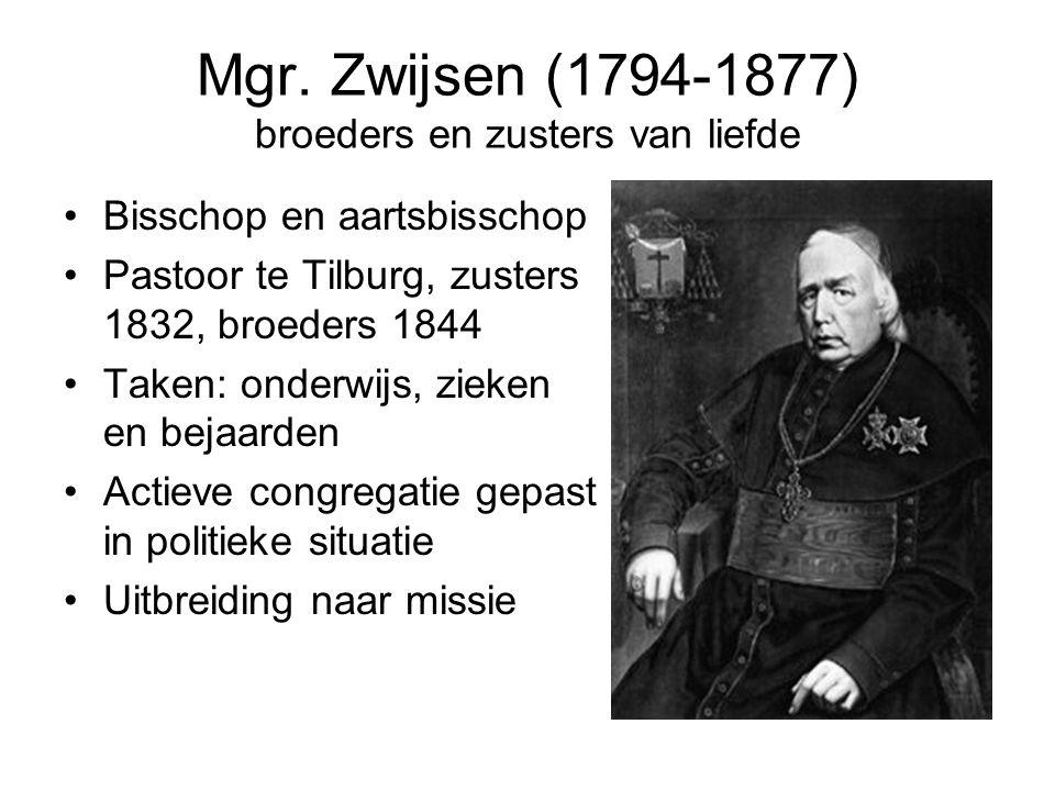 Mgr. Zwijsen (1794-1877) broeders en zusters van liefde