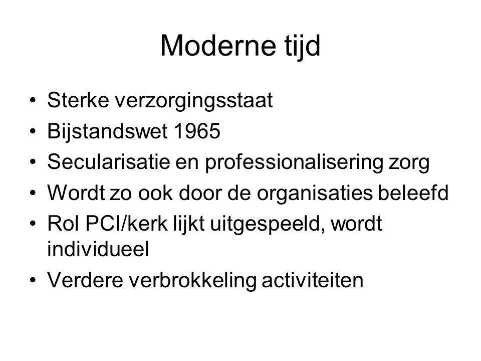 Moderne tijd Sterke verzorgingsstaat Bijstandswet 1965