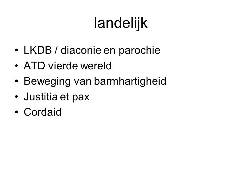 landelijk LKDB / diaconie en parochie ATD vierde wereld