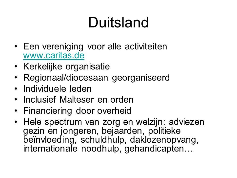 Duitsland Een vereniging voor alle activiteiten www.caritas.de