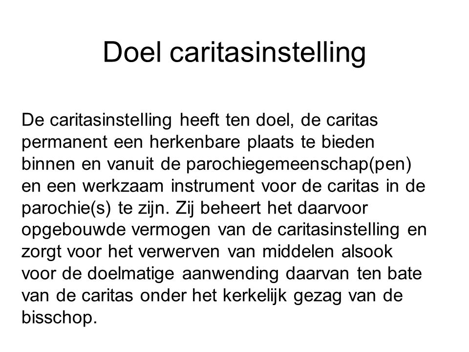 Doel caritasinstelling