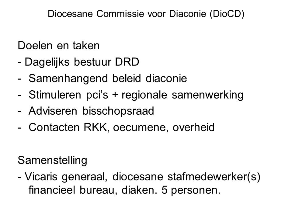 Diocesane Commissie voor Diaconie (DioCD)