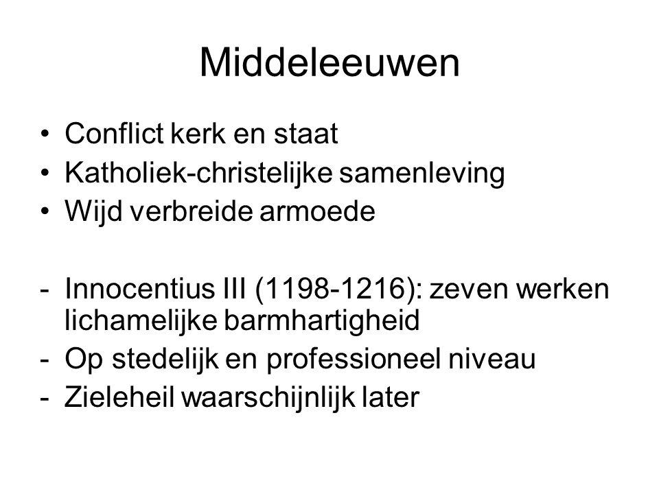 Middeleeuwen Conflict kerk en staat Katholiek-christelijke samenleving