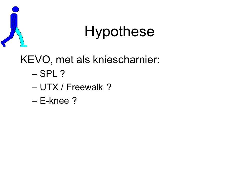 Hypothese KEVO, met als kniescharnier: SPL UTX / Freewalk E-knee