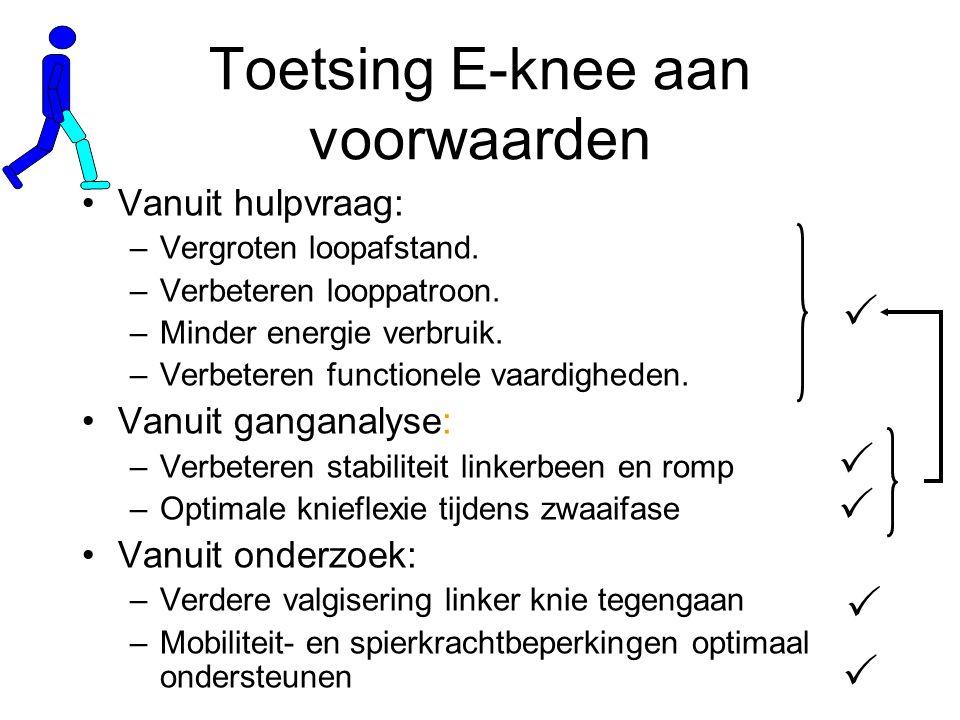 Toetsing E-knee aan voorwaarden