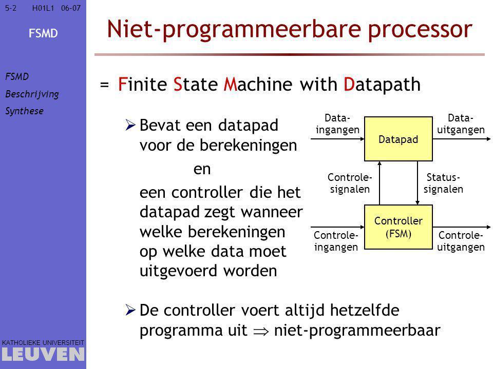 Niet-programmeerbare processor