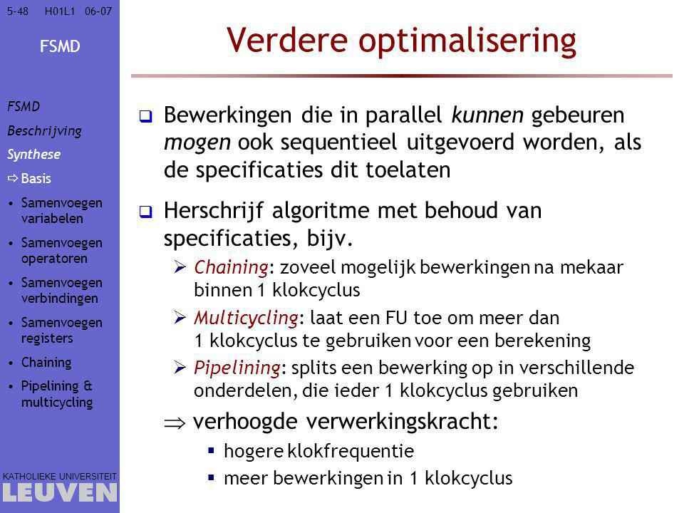 Verdere optimalisering