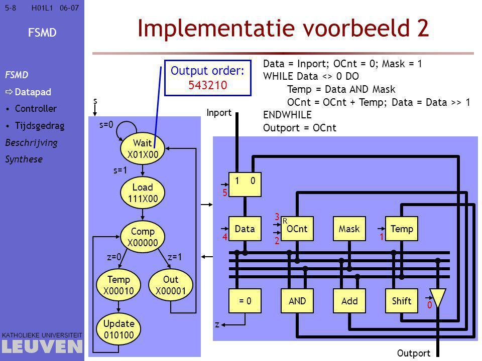 Implementatie voorbeeld 2