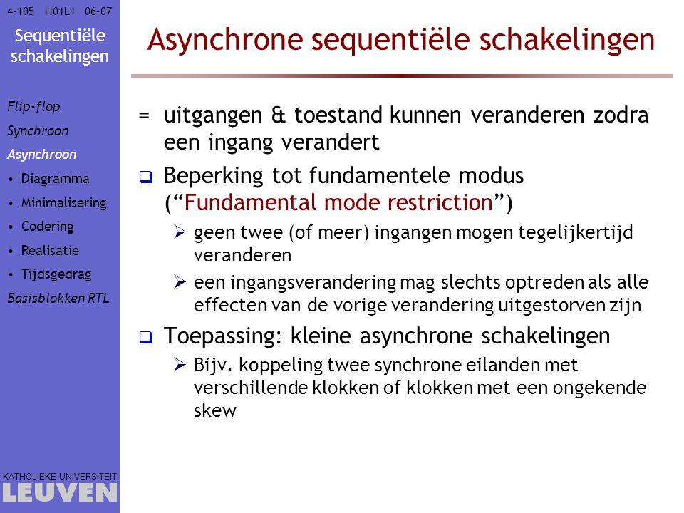 Asynchrone sequentiële schakelingen