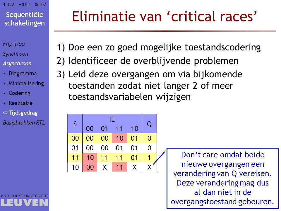 Eliminatie van 'critical races'