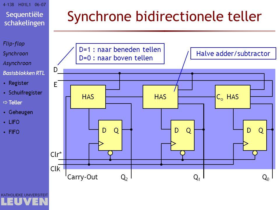 Synchrone bidirectionele teller