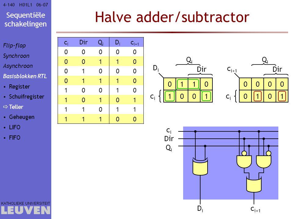 Halve adder/subtractor