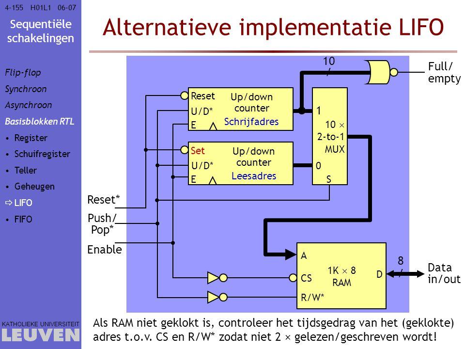 Alternatieve implementatie LIFO