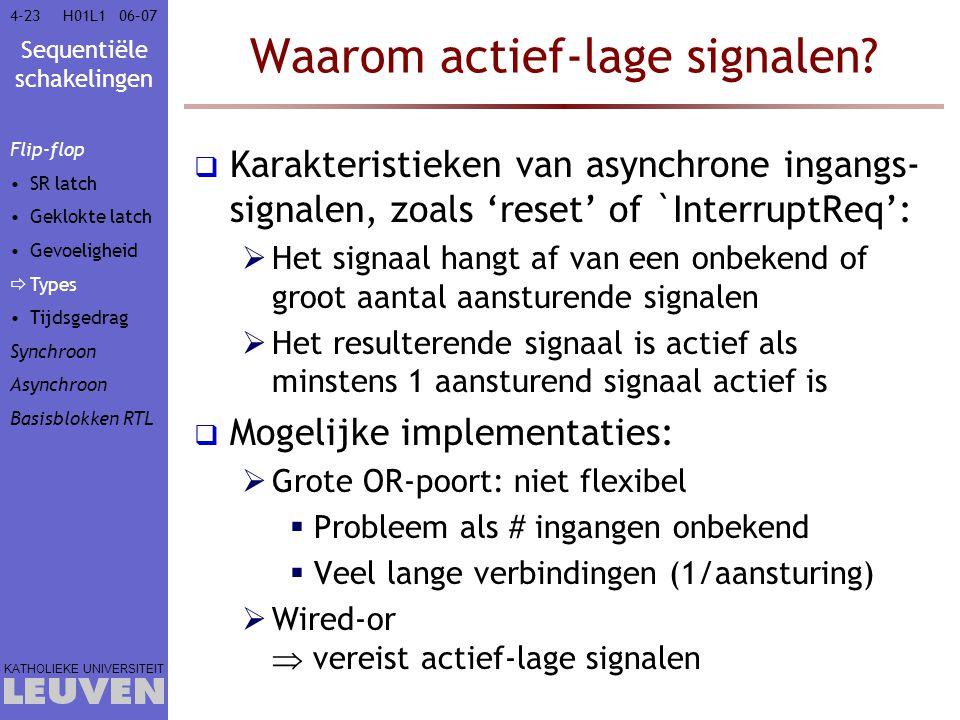 Waarom actief-lage signalen
