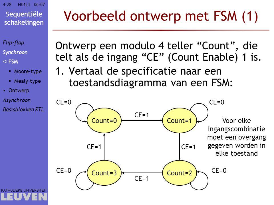 Voorbeeld ontwerp met FSM (1)