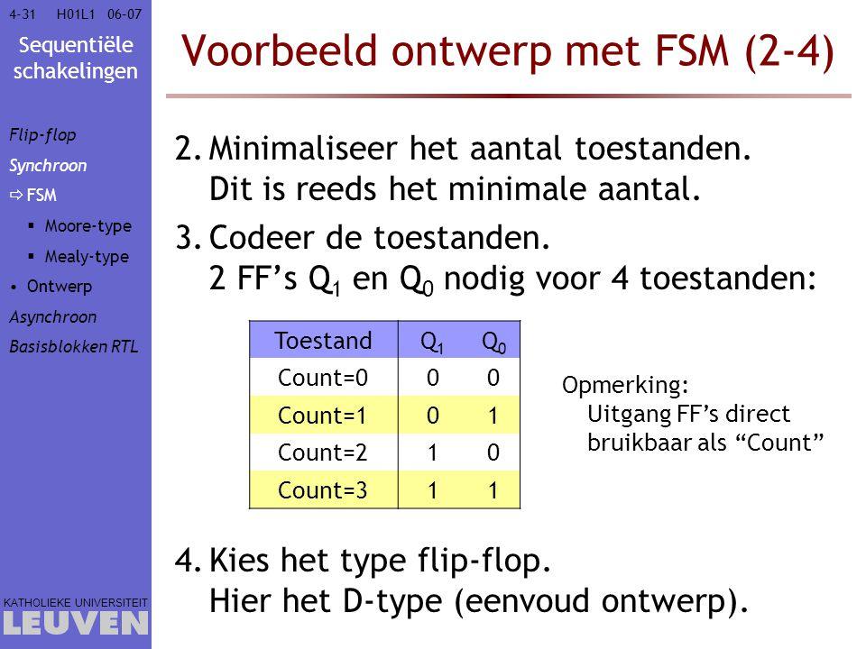 Voorbeeld ontwerp met FSM (2-4)