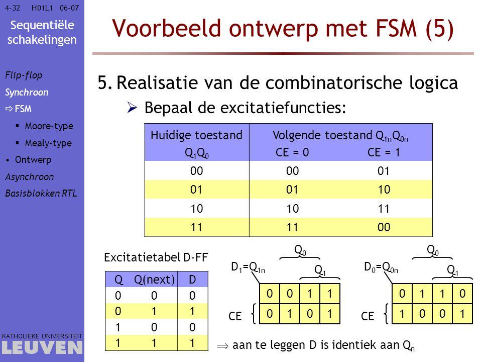 Voorbeeld ontwerp met FSM (5)