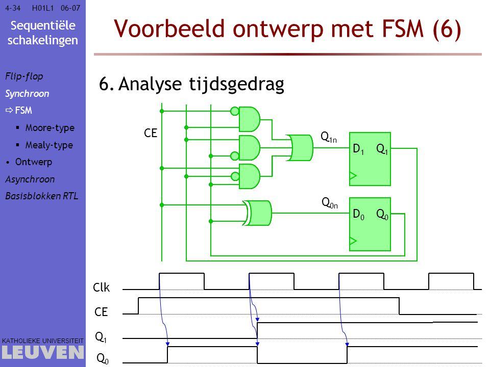 Voorbeeld ontwerp met FSM (6)