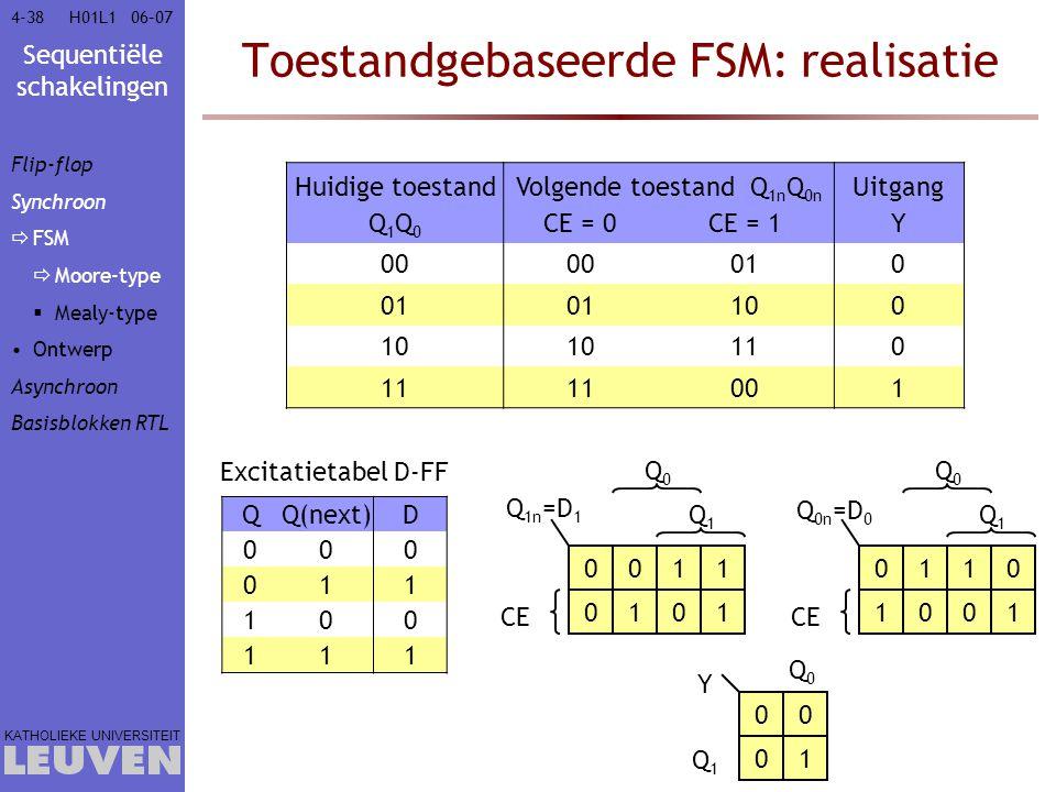 Toestandgebaseerde FSM: realisatie