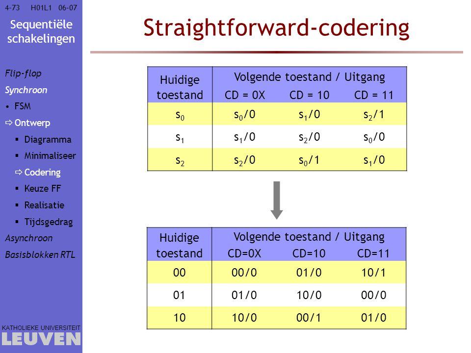 Straightforward-codering