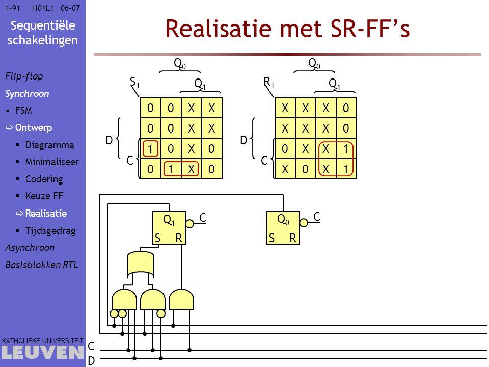 Realisatie met SR-FF's