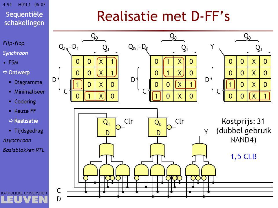 Kostprijs: 31 (dubbel gebruik NAND4)