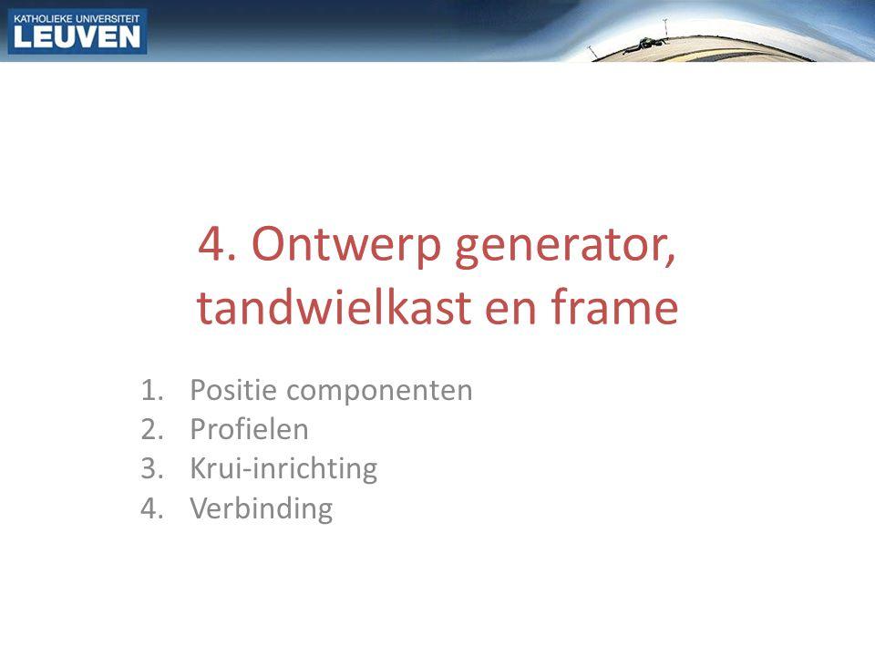 4. Ontwerp generator, tandwielkast en frame