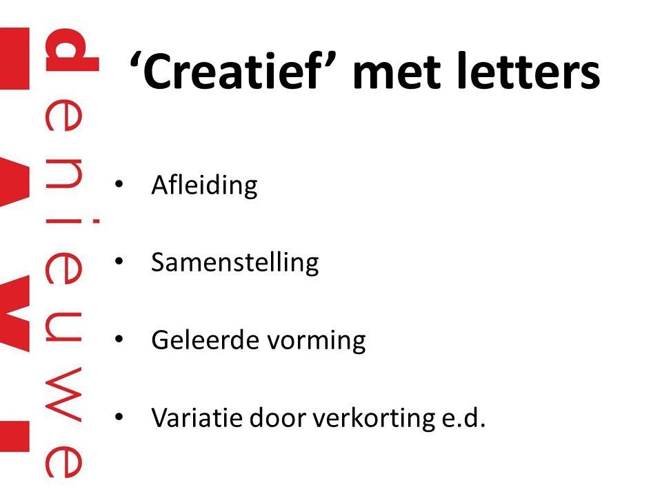 'Creatief' met letters